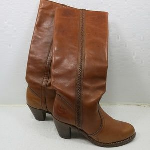 Dexter Oil Tanned Glove Leather Vintage Long Boots